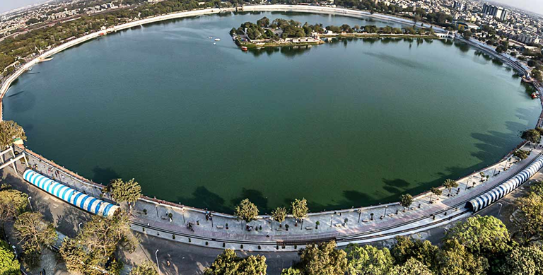 Kankaria Lake is the biggest lake in Ahmedabad built-in the15thcentury by Sultan Kutubuddin